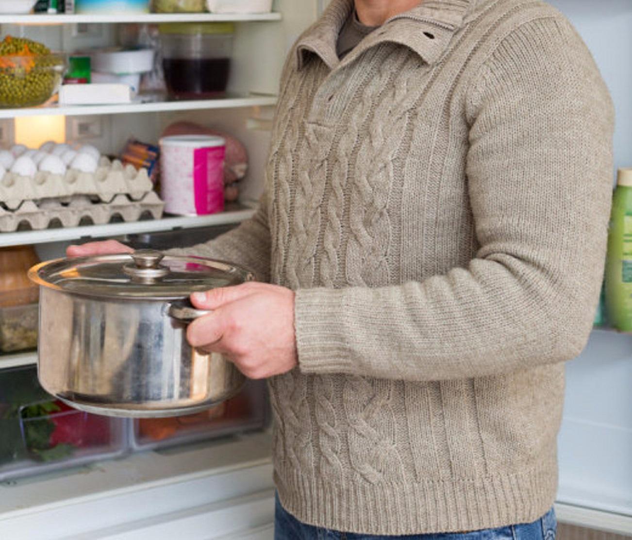 горячее в холодильник