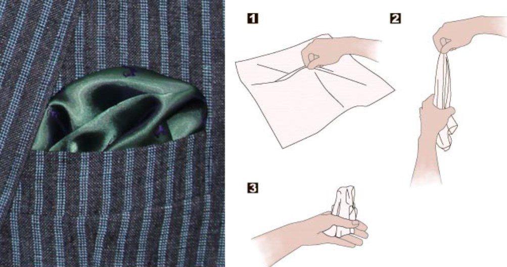 способ складывания платка буф