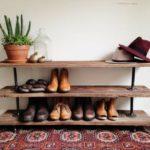 полки для обуви в стиле лофта