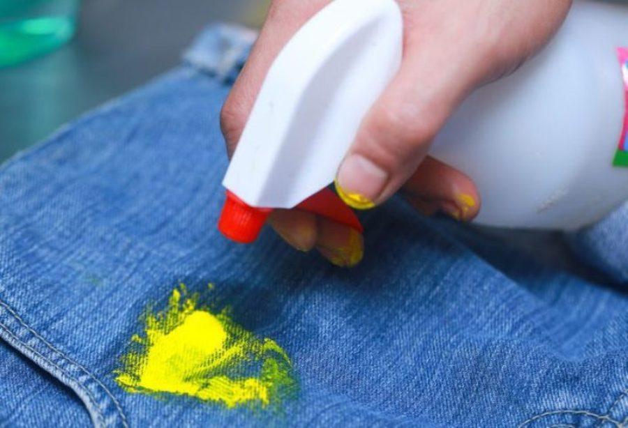 как очистить джинсы от краски идеи
