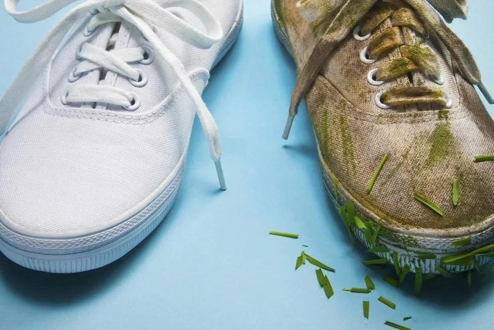 как отбелить белые кроссовки дома