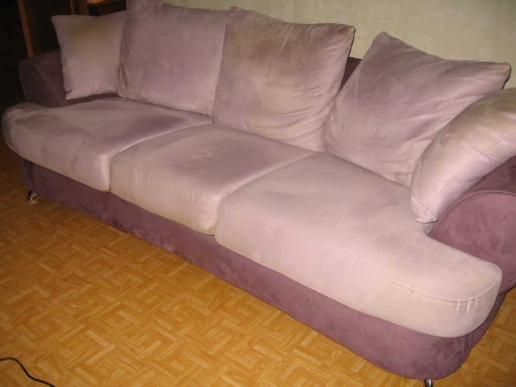 как почистить диван велюровый
