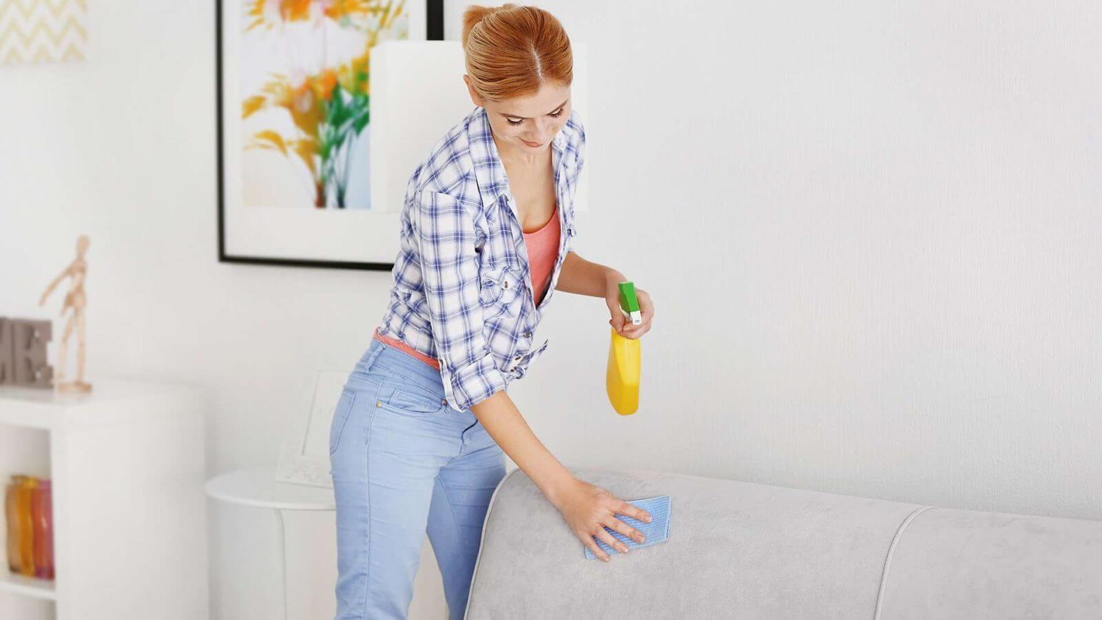 как почистить мягкую мебель средством для мытья посуды