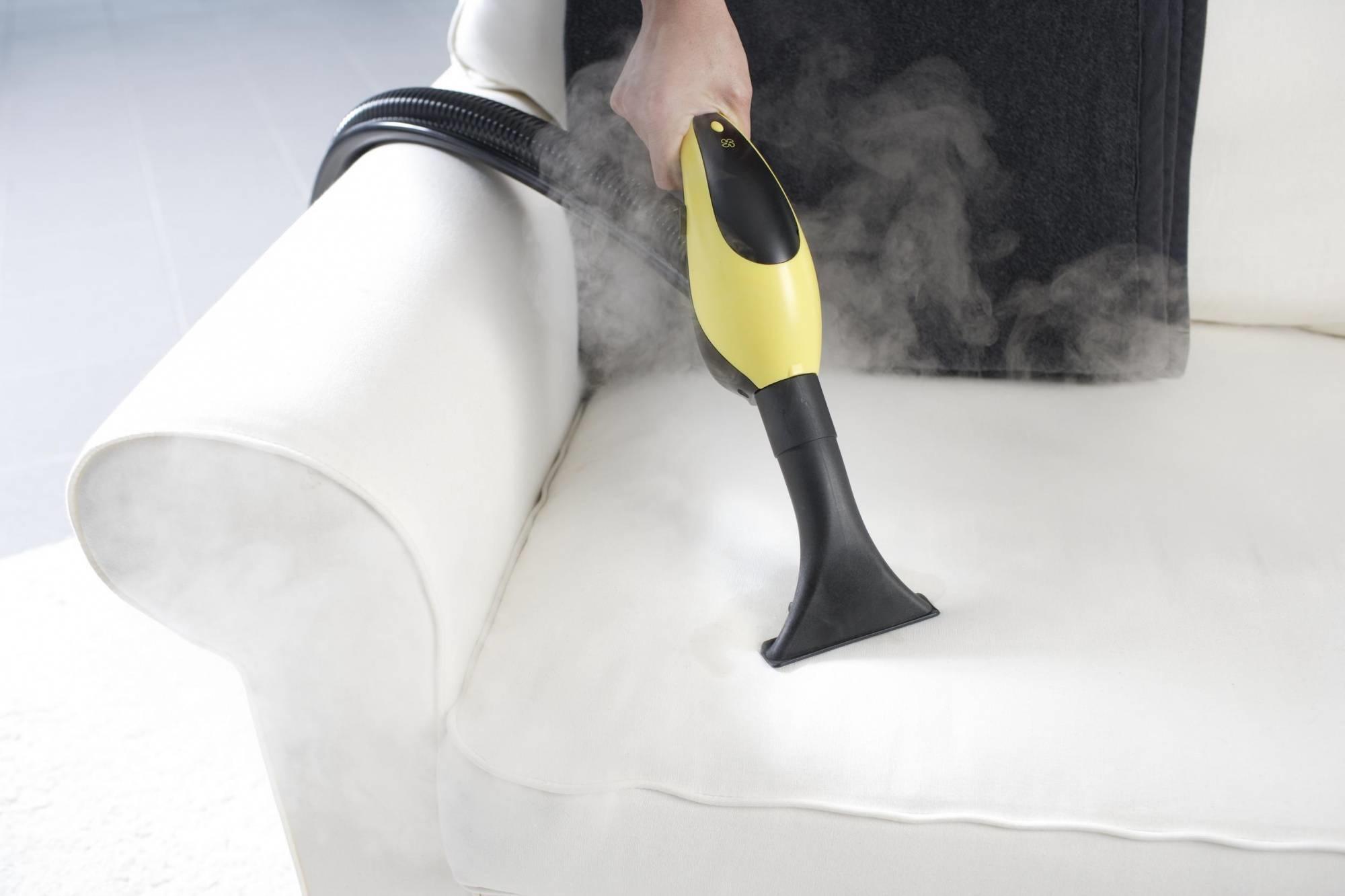 как почистить мягкую мебель с помощью пара