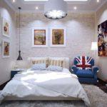кровать в британском стиле