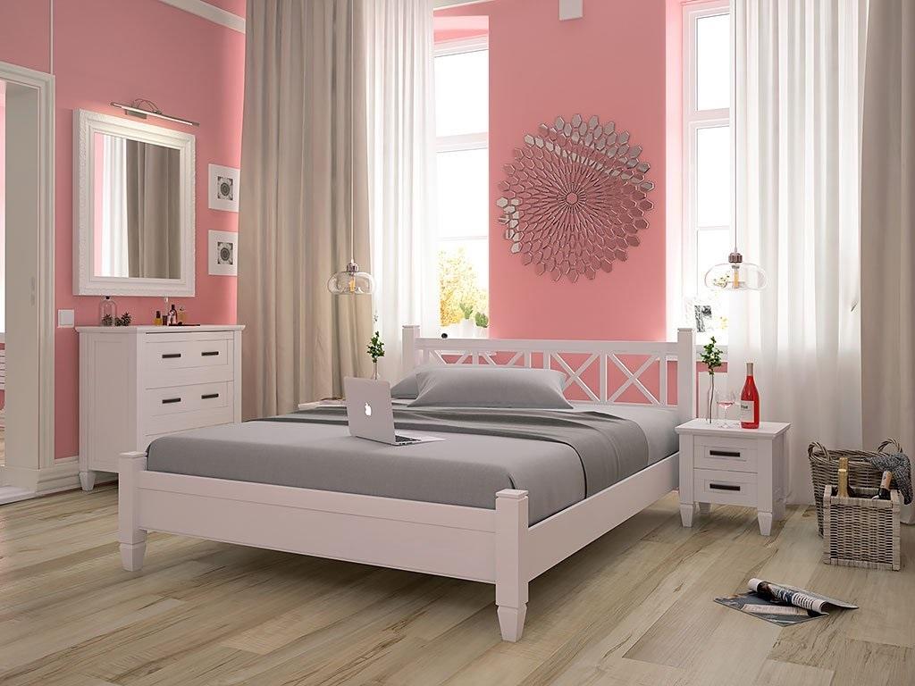 розовая с серым спальня
