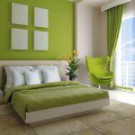 кровать светло-зеленая
