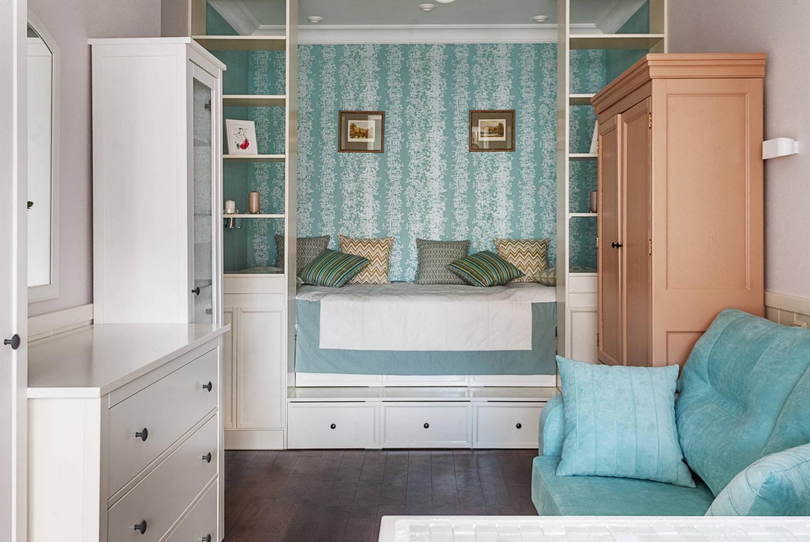 гармонизированное пространство спальни