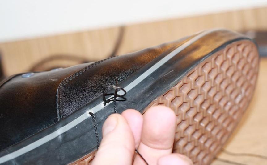 как прошить обувь