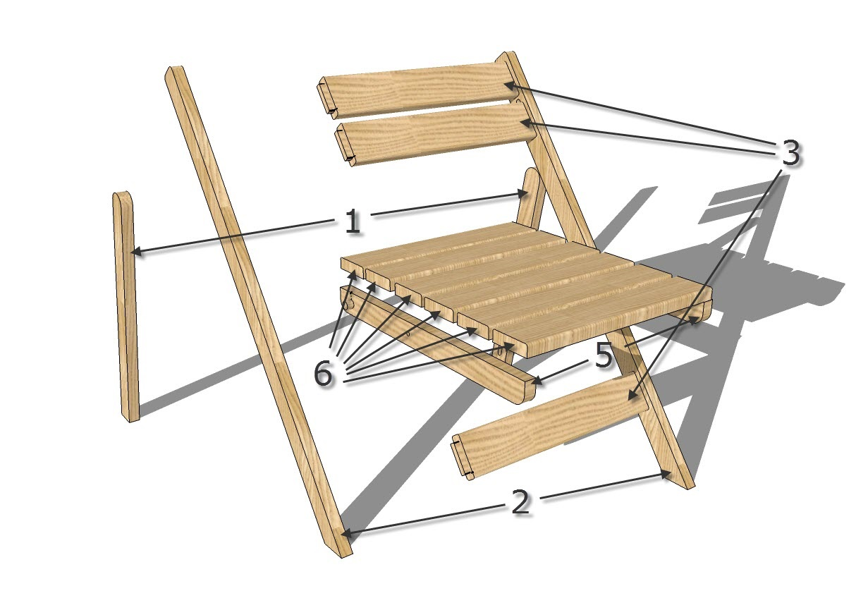 разбор стула на детали