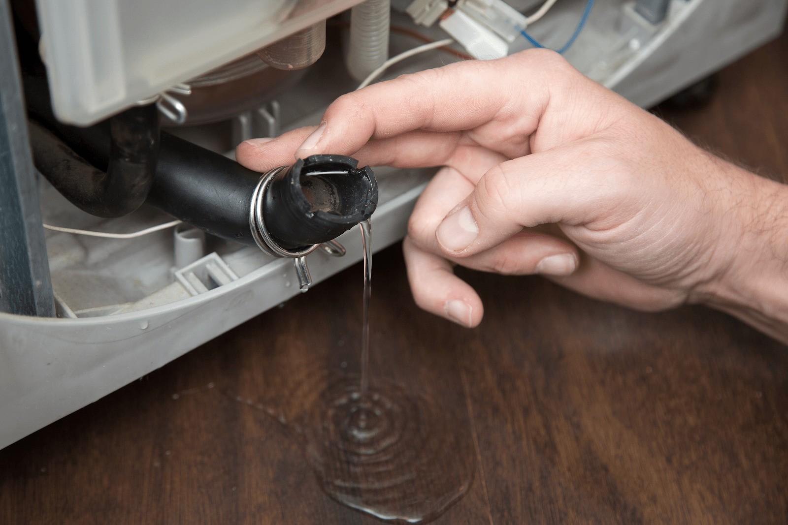 как слить воду со стиральной машины