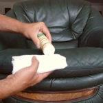 как убрать зеленку с кожаных поверхностей
