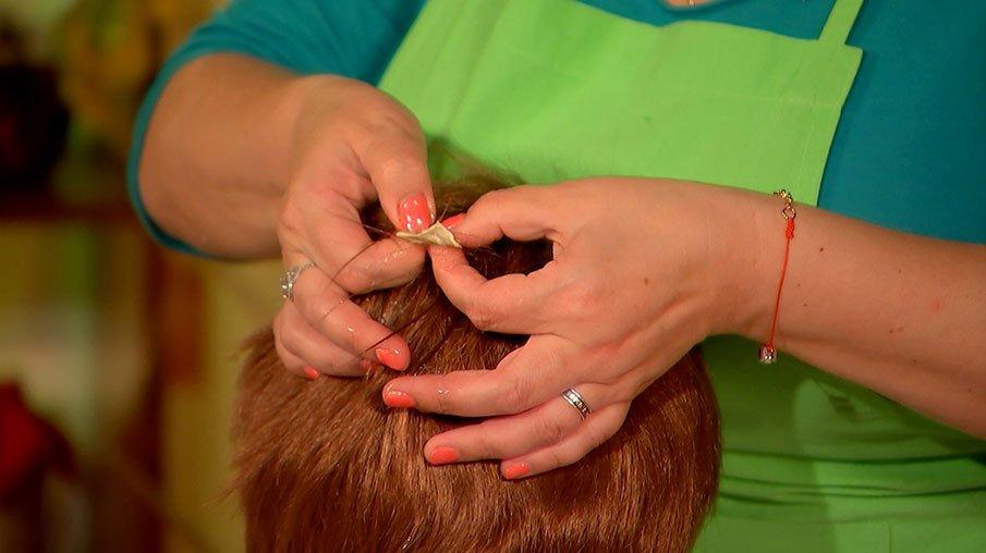 как убрать жвачку с корней волос
