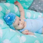 кокон для новорожденного декор фото