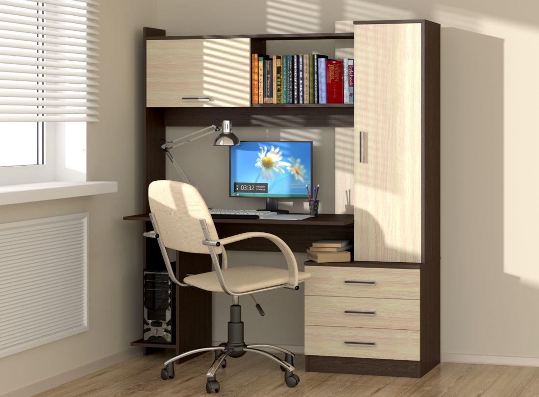 письменные столы с полками и ящиками картинки