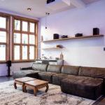 коричневый диван фото дизайна