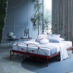 кованая кровать варианты декора