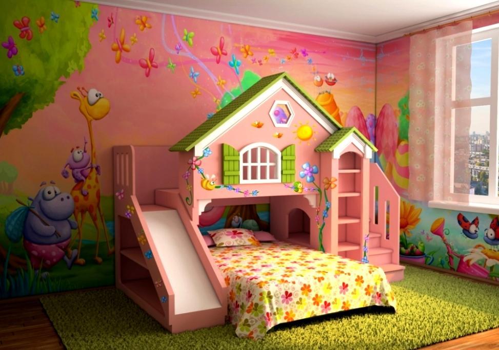 сказочная кровать для девочки