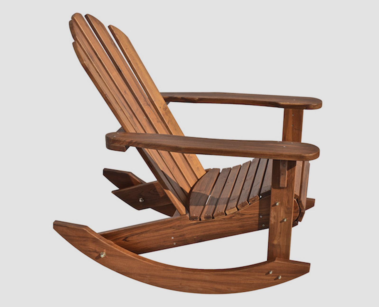 кресло качалка деревянное