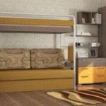 кровать-чердак нестандартная