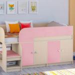 кровать-чердак для девочек