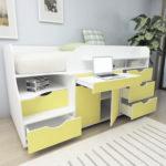 кровать чердак с рабочей зоной идеи дизайна