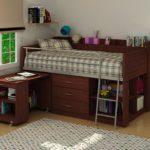 кровать чердак с рабочей зоной дизайн идеи
