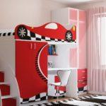 кровать чердак в детской фото декора