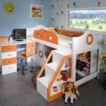 кровать чердак в детской интерьер фото