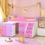 кровать чердак в детской идеи интерьера