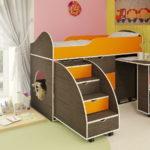 кровать чердак в детской фото вариантов