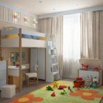 кровать чердак в детской виды дизайна