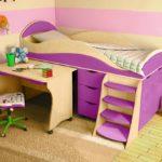 кровать чердак в детской виды декора