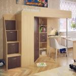 кровать чердак в детской дизайн фото