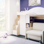 кровать чердак в детской фото дизайн