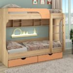 кровать-чердак для двух детей