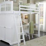 кровать-чердак белое дерево