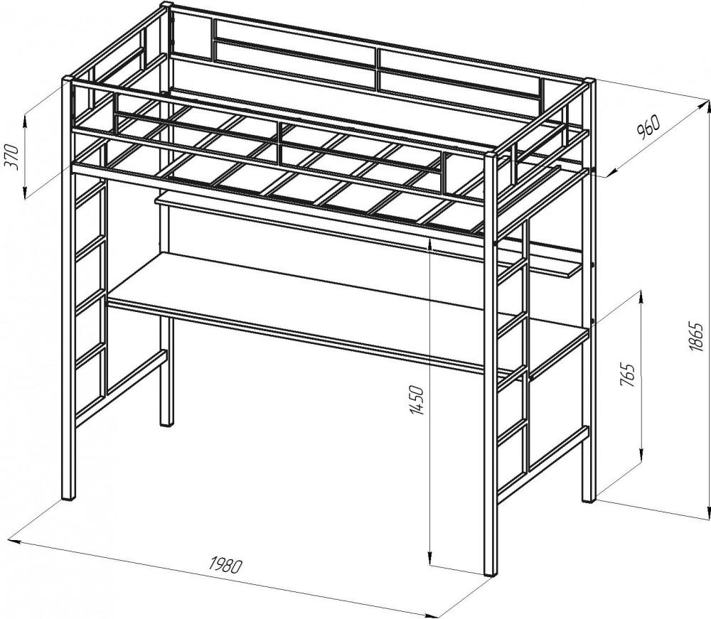 кровать-чердак по чертежу