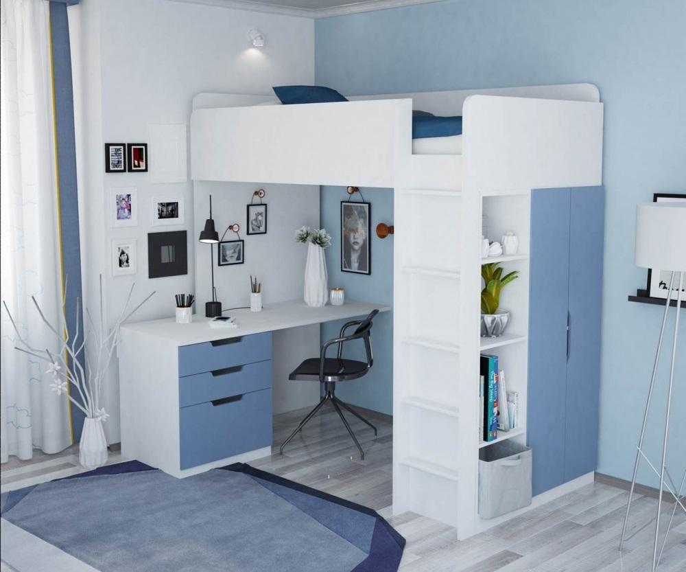 кровать для подростка чердак с лестницей