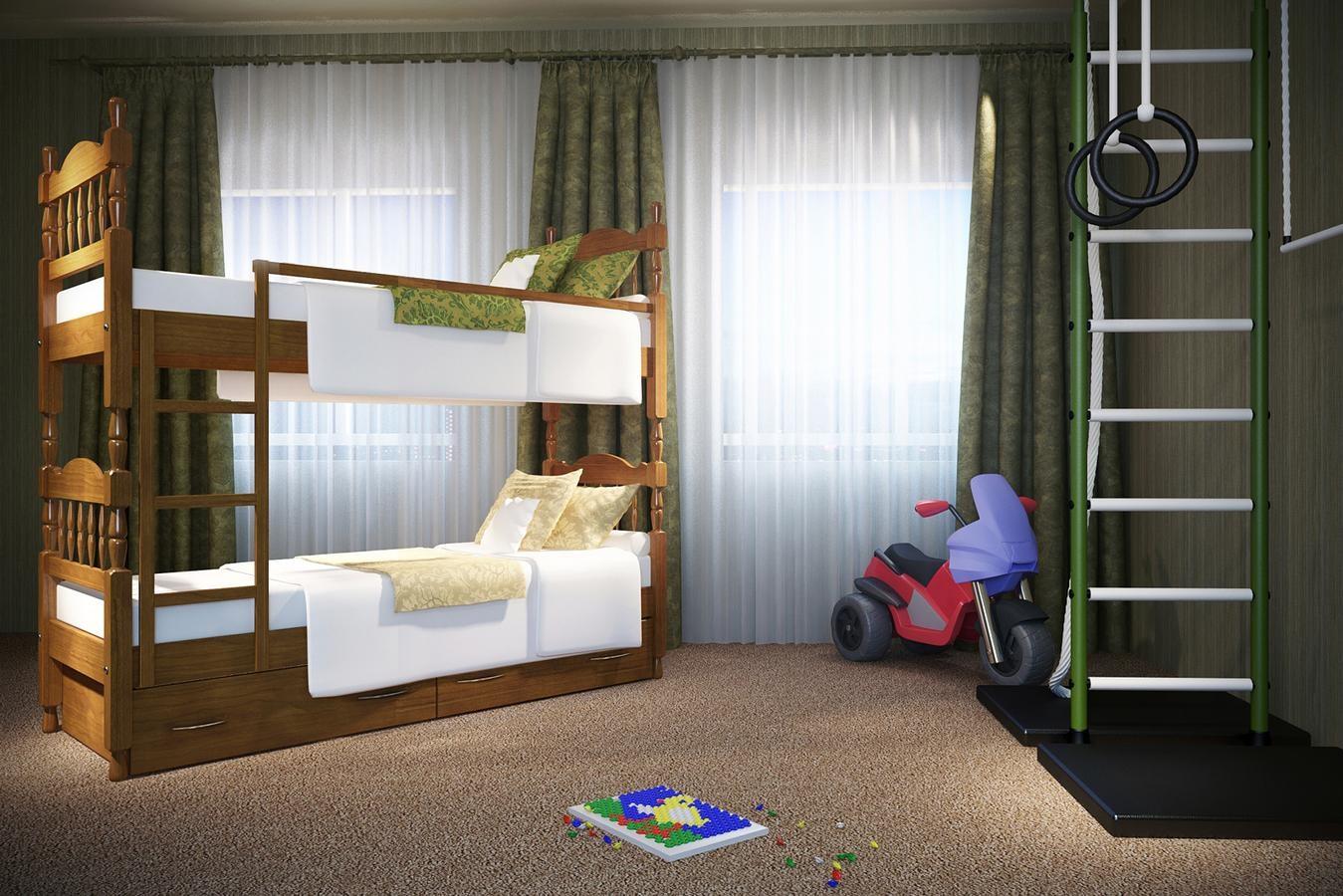 кровать для подростка деревянная