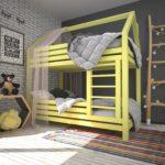 кровать-домик для детей двухъярусная