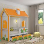 кровать-домик для детей одноярусная