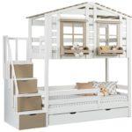 кровать-домик для детей бежевый