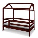 кровать-домик для детей темно-коричневый