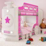 кровать-домик для детей розовый поезд