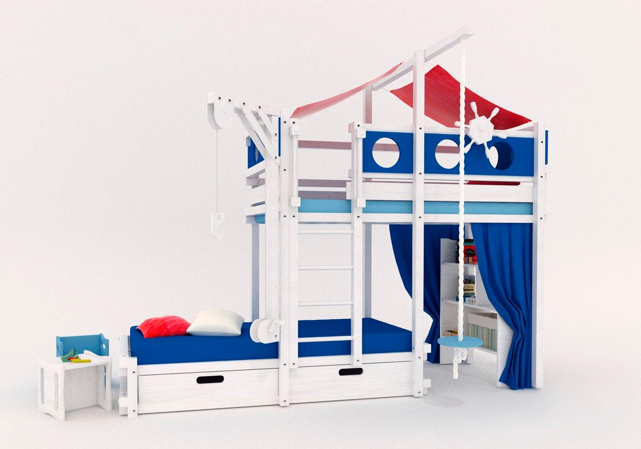 кровать-домик для детей мальчиков