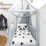 кровать-домик для детей панда