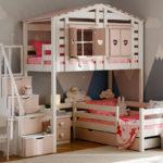 кровать-домик для детей сердечки