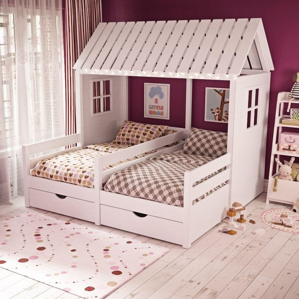 кровать-домик для детей с подсветкой