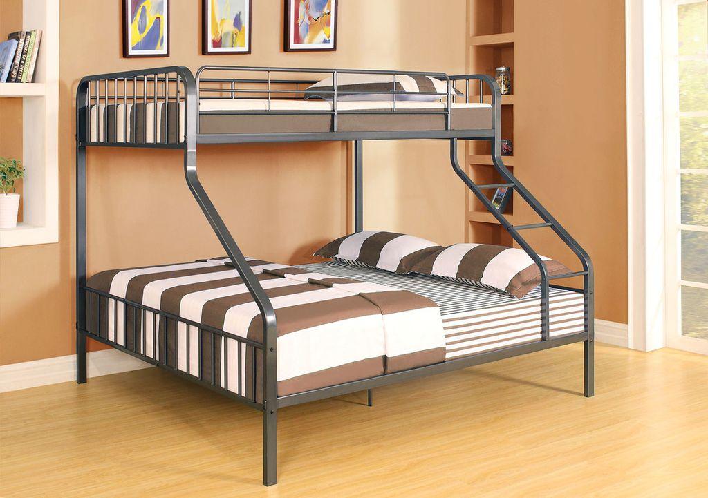кровать двухъярусная металлическая семейная
